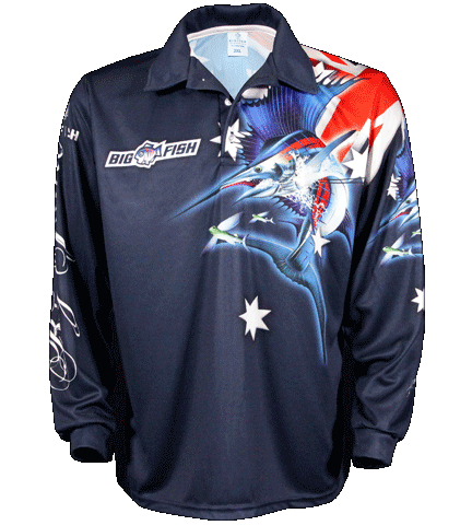 Aussie Pride Navy - Fishing Shirt