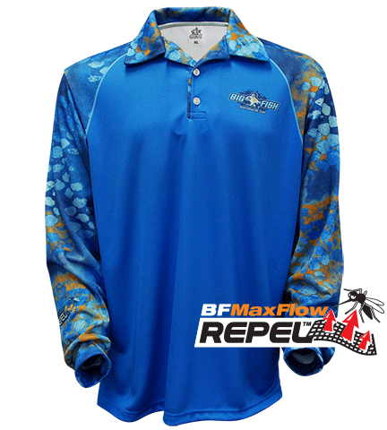 REPEL - CAMOSCALE BILLISTIC BLUE (Repels Insects) Also available in Kids Sizes
