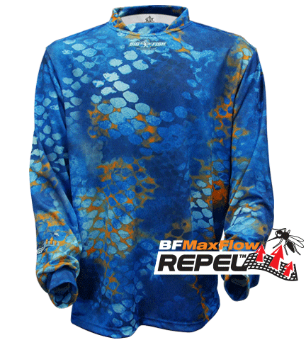 REPEL - FULL CAMOSCALE BILLISTIC BLUE (Repels Insects)